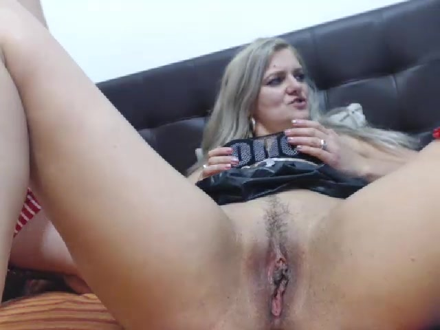 Busty HotDiva19 in black stockings